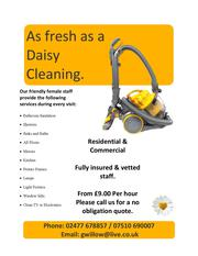As fresh as a daisy cleaning services